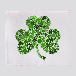 Shamrock of Shamrocks Throw Blanket